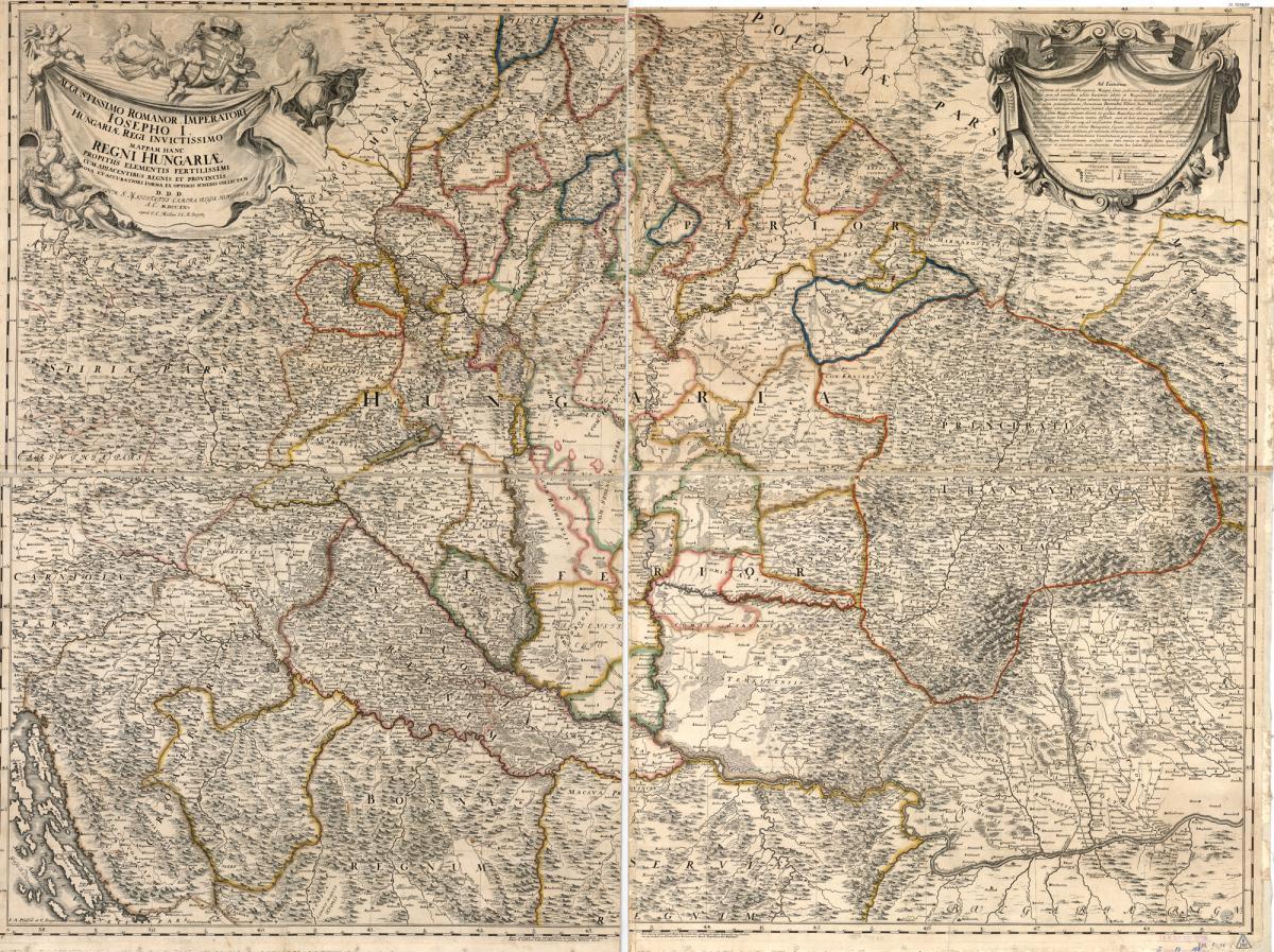 régi magyar térkép Országos Széchényi Könyvtár régi magyar térkép