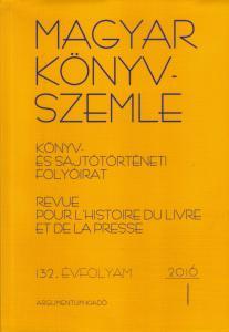 Magyar Könyvszemle 2016/1–4.