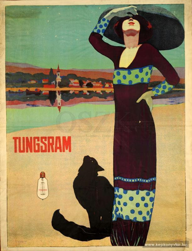 Faragó, Géza: Tungsram,  graphic poster [around 1910]