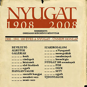 Career profiles and documents of the authors of Nyugat from NSZL's collection