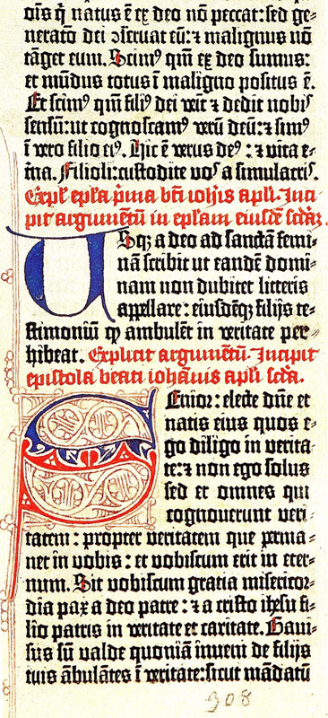 Fragment of Gutenberg's 42-line Bible