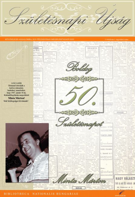 születésnapi ajándék újság Születésnapi csomag ismertető születésnapi ajándék újság